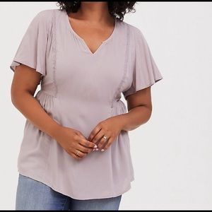 NWT Torrid Short Sleeve Stretch Challis Blouse. 5X